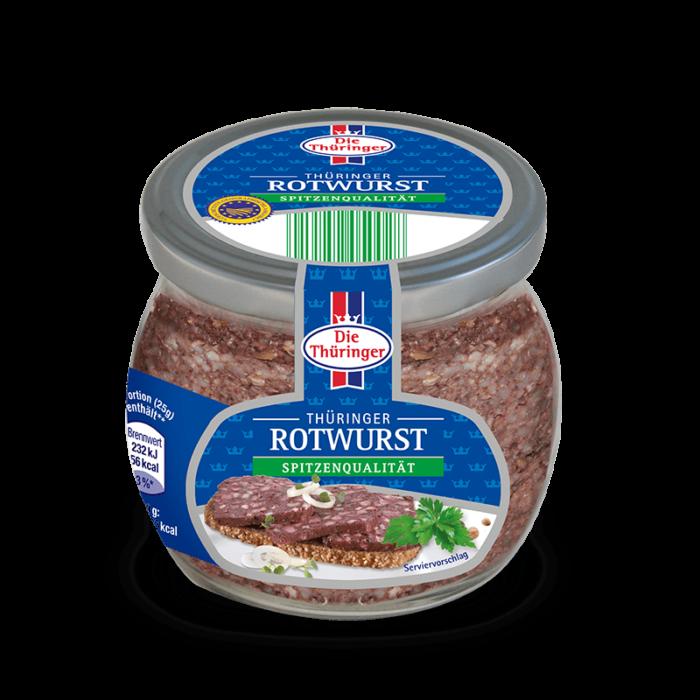 Thüringer Rotwurst im Glas 130g 1