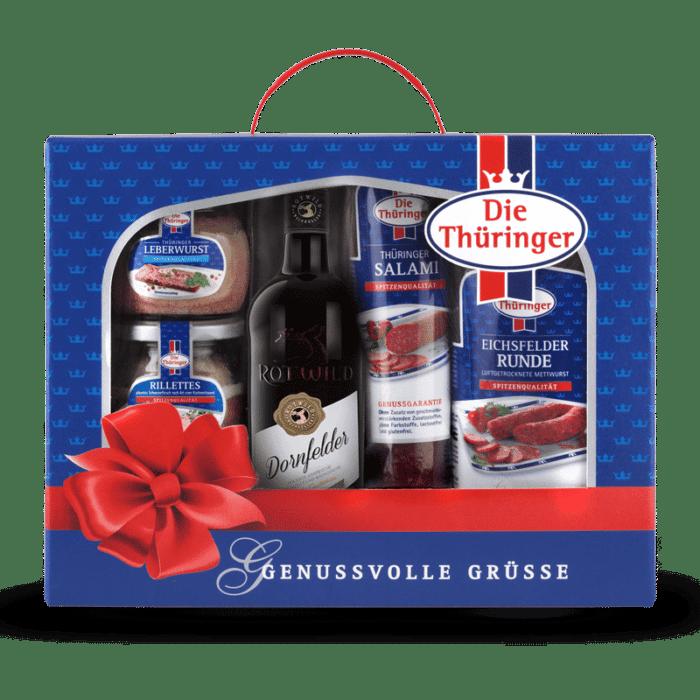 Thüringer Geschenkkarton (Wein/Rillettes) 1